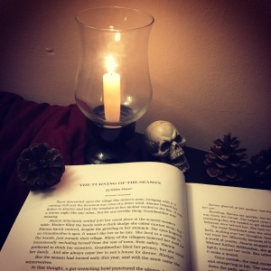 Image of my short story by a candle
