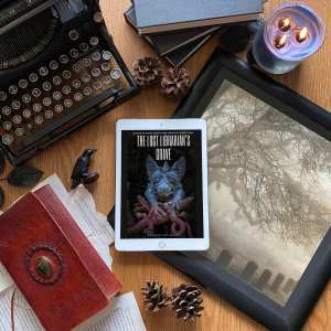 Picture of book cover for The Lost Librarian's Grave, featuring a gargoyle